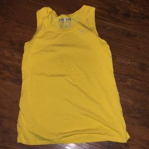 Yellow Nike workout tank top